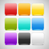 Set of Colorful App Icons Backgrounds — Stock Vector