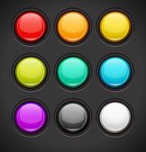 Set of Colorful Buttons — Stock Vector