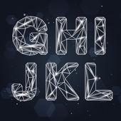Vector Constellation Geometric Font G-L — Stock Vector