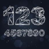 Vector Constellation Geometric Numbers — Stock Vector