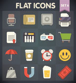 Universal Flat Icons for Web and Mobile Applications Set 6 — Stock Vector