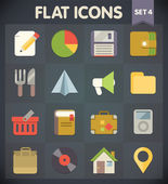 Universal Flat Icons for Web and Mobile Applications Set 4 — Stock Vector
