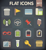 Universal Flat Icons for Web and Mobile Applications Set 7 — Stock Vector