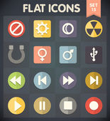 Universal Flat Icons for Web and Mobile Applications Set 15 — Stock Vector