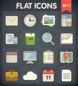 Universal Flat Icons for Web and Mobile Applications Set 1 — Stockvektor