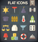 Universal Flat Icons for Web and Mobile Applications Set 14 — Stock Vector