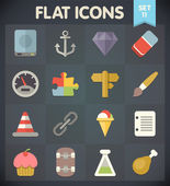 Universal Flat Icons for Web and Mobile Applications Set 11 — Stockvector