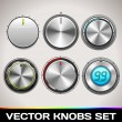 Vector Realistic Knobs Set — Stock Vector #29800377