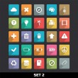 trendy vector iconen met lange schaduw set 2 — Stockvector