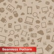 Seamless Media Pattern — Stockvektor