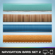 Vector Navigation Bars For Web And Mobile Set2 — Stock Vector #29800861