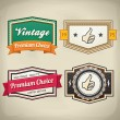 Retro Label Set 3 — Stock Vector