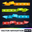 Stock Vector: Vector Trendy Navigation With Origami