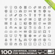 100 Universal Icons For Web and Mobile volume 2 — Stock Vector #29805353