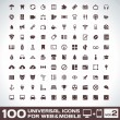 Stock Vector: 100 Universal Icons For Web and Mobile volume 2