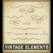 Stock Vector: Vector Set: Vintage Design Elements