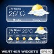 Vector Weather Widgets — Stock Vector