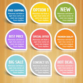 Vector Labels Design Elements Set — Stock Vector