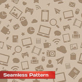 Seamless Media Pattern — Stock Vector