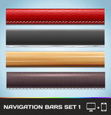 Vector Navigation Bars For Web And Mobile Set1 — Stock Vector