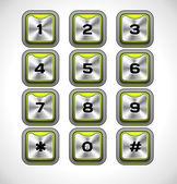 Vector Metal keypad — Stock Vector