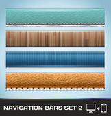 Vector Navigation Bars For Web And Mobile Set2 — Stock Vector