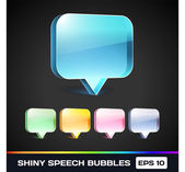 Vector Shiny Speech Bubbles — Stock Vector