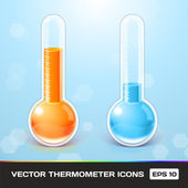 Vector Thermometer Icons — Stock Vector