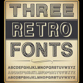 Vector Set: Three Vintage Fonts — Stock Vector