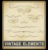 Vector Set: Vintage Design Elements — Stock Vector