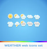 Weather Colorful Icons — Stock Vector