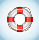 White Life Buoy Vector Icon — Stock Vector