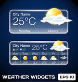 Vector Weather Widgets — Stock Vector
