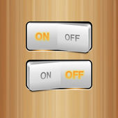White Realistic Vector Switch — Stock Vector