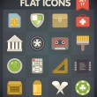 Stock Vector: Universal Flat Icons for Web and Mobile Applications Set 14