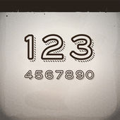 Vector Stylish Retro Numbers — Vettoriale Stock