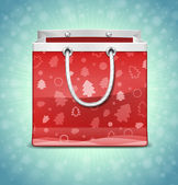 Red shopping Bag — Stock Vector