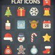 Stock Vector: Universal Flat Icons for Christmas