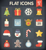 Universal Flat Icons for Christmas — Stock Vector