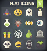Universal Flat Icons for Halloween — Stock Vector