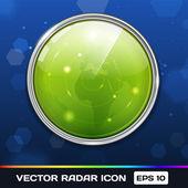 Green Radar Vector Icon — Stock Vector