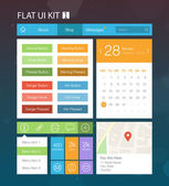 Flat user interface kit for web and mobile 1 vector — Stock Vector