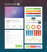 Flat user interface kit for web and mobile 2 vector — Stock Vector