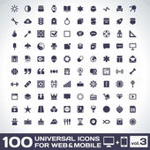 100 Sticker Icons — Vetorial Stock