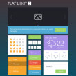 Stock Vector: Flat User Interface Kit for web and mobile