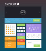 Flat User Interface Kit for web and mobile — Stock Vector