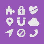 Ikoner för webb och mobila applikationer — Stockvektor