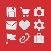Icons for Web and Mobile Applications — Stock Vector
