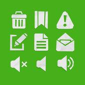 Iconos para aplicaciones web y móviles — Vector de stock
