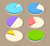 Flat Business Pie Charts for Your Designs — Vecteur